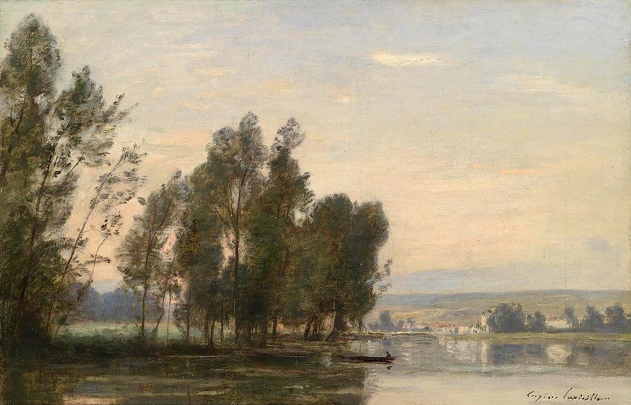 La Seine, Moret sur Loing by Eugene Lavieille