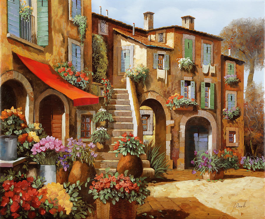 Red Tent Painting - La Tenda Rossa by Guido Borelli