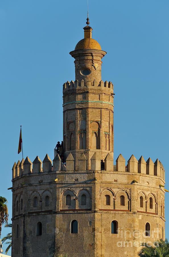 La Torre de Oro Detail. Seville by Angelo DeVal