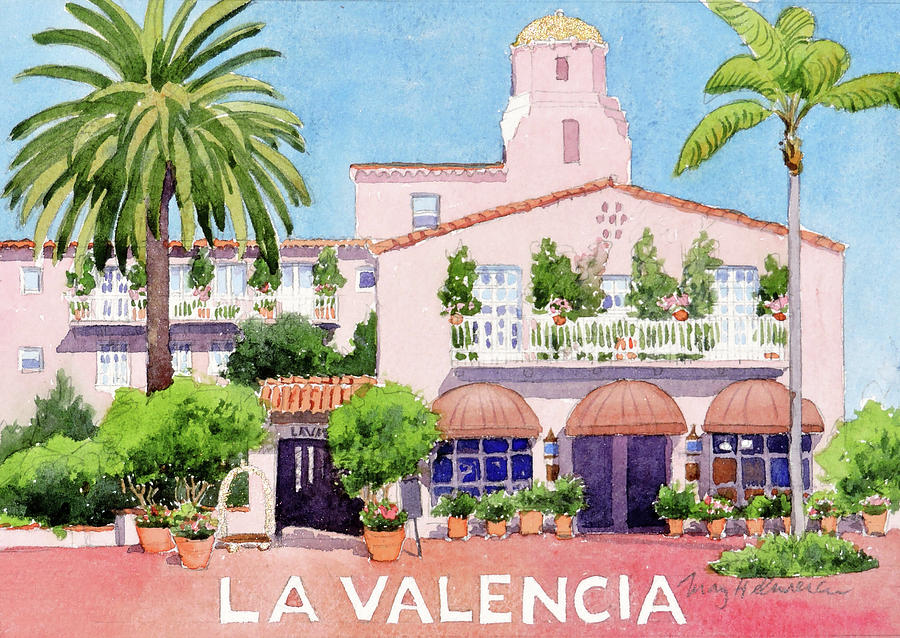 La Valencia with Lettering by Mary Helmreich