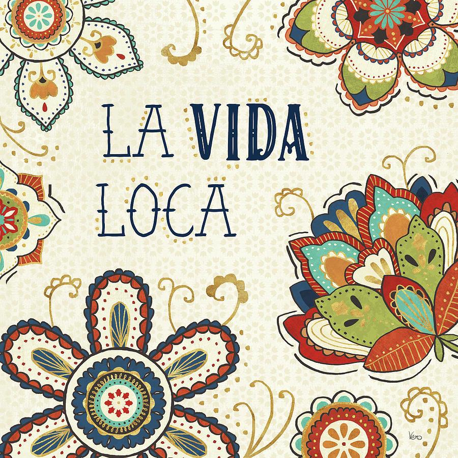 Blue Painting - La Vida Loca II by Veronique Charron