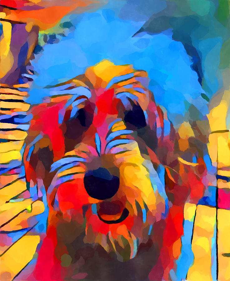 Dog Painting - Labradoodle by Chris Butler