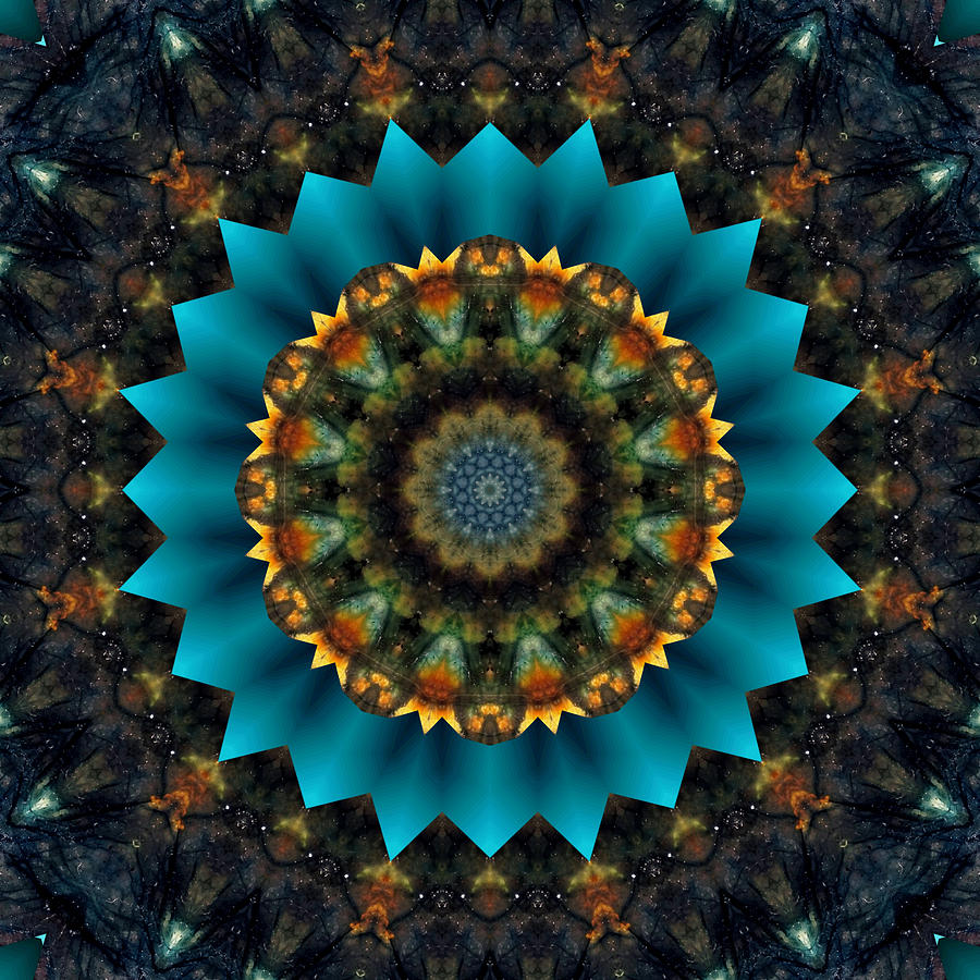 Labradorite Mandala by Rachel Hannah