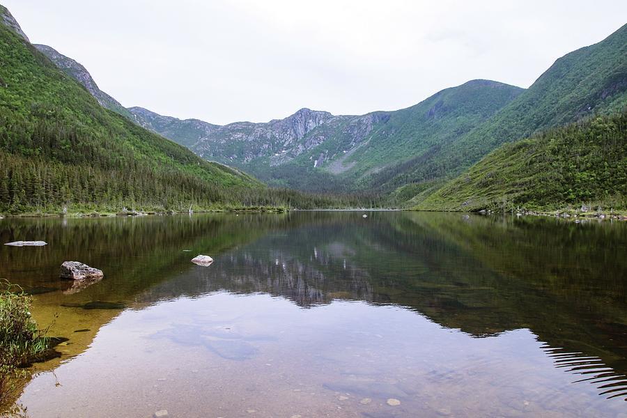 Lac Aux Americains Glacial Lake Reflections Photograph