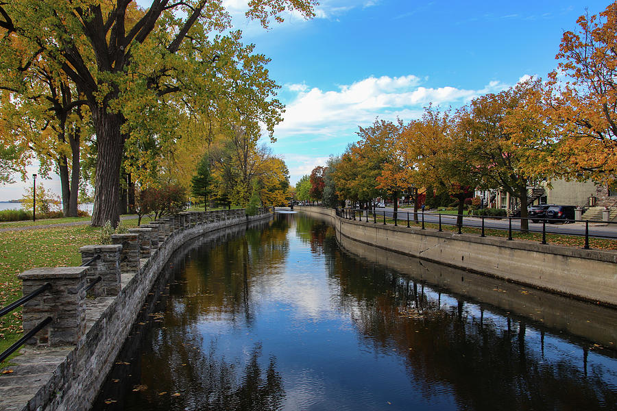 Lachine Canal Fall Reflections by Marlin and Laura Hum