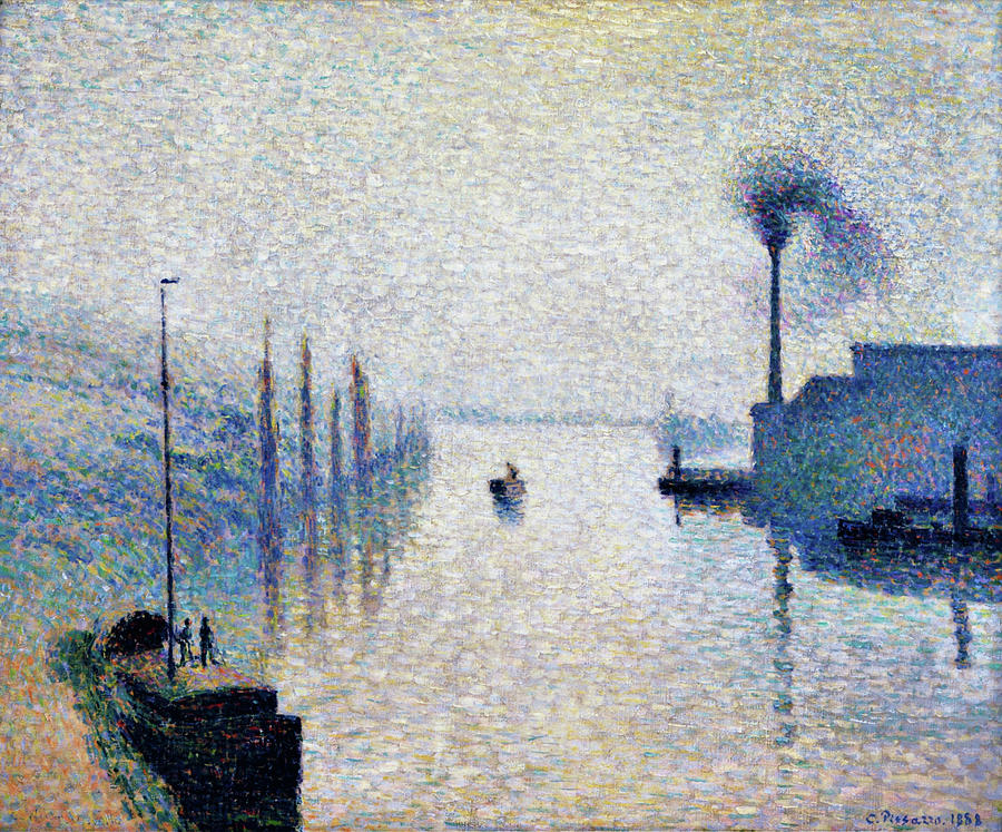 Camille Pissarro Painting - Lacroix Island, Rouen  - Digital Remastered Edition by Camille Pissarro