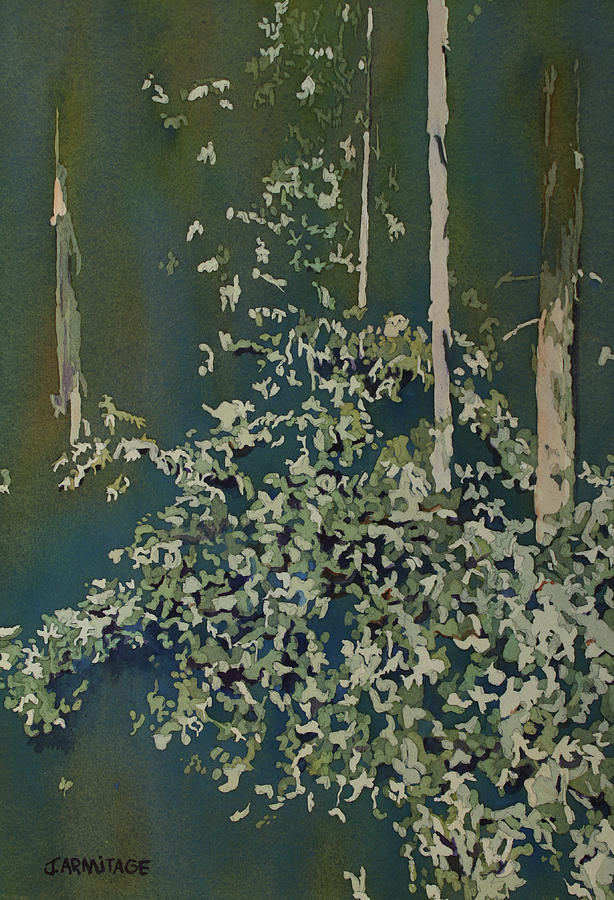 Forest Painting - Lacy Edge by Jenny Armitage