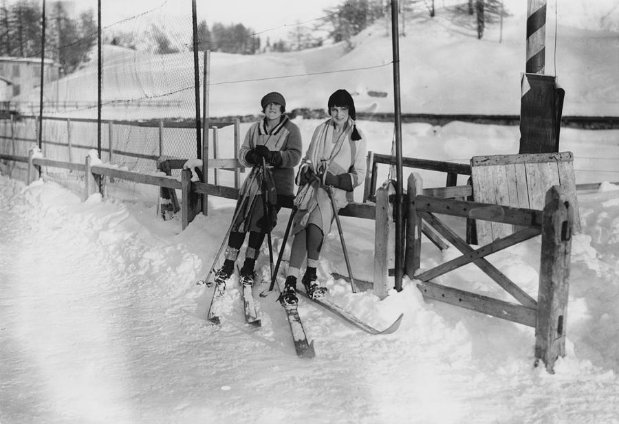 Ladies At St Moritz Photograph by W. G. Phillips