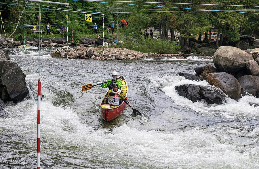 Ladies Whitewater Tandem Canoe by Les Palenik