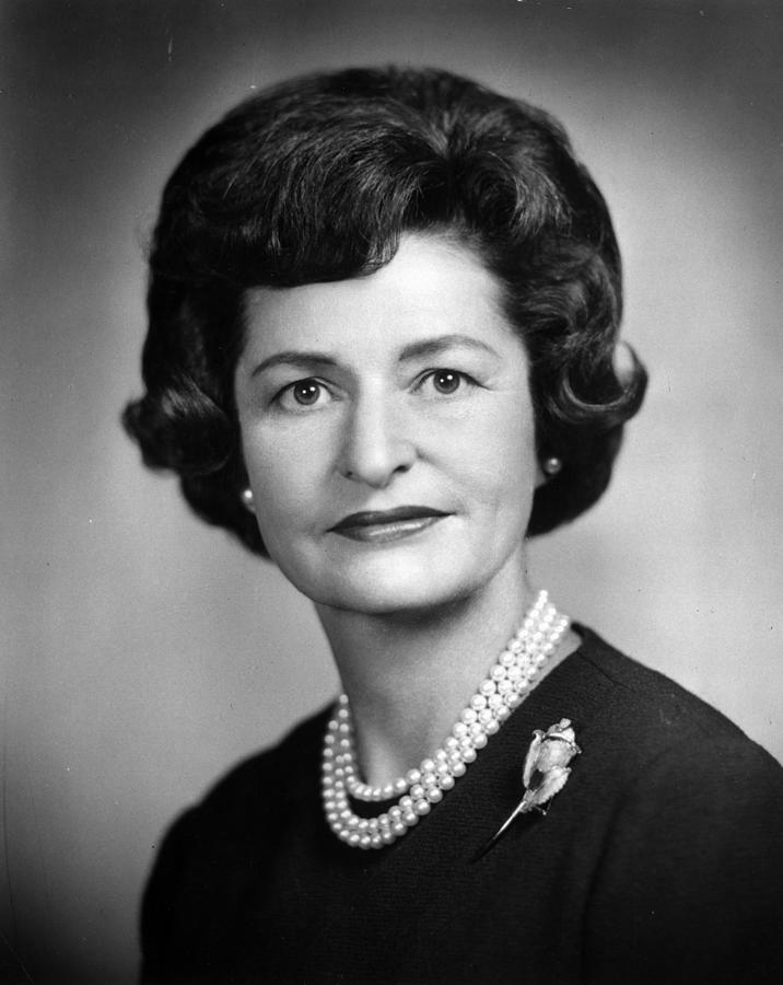 Lady Bird Johnson Photograph by Hulton Archive