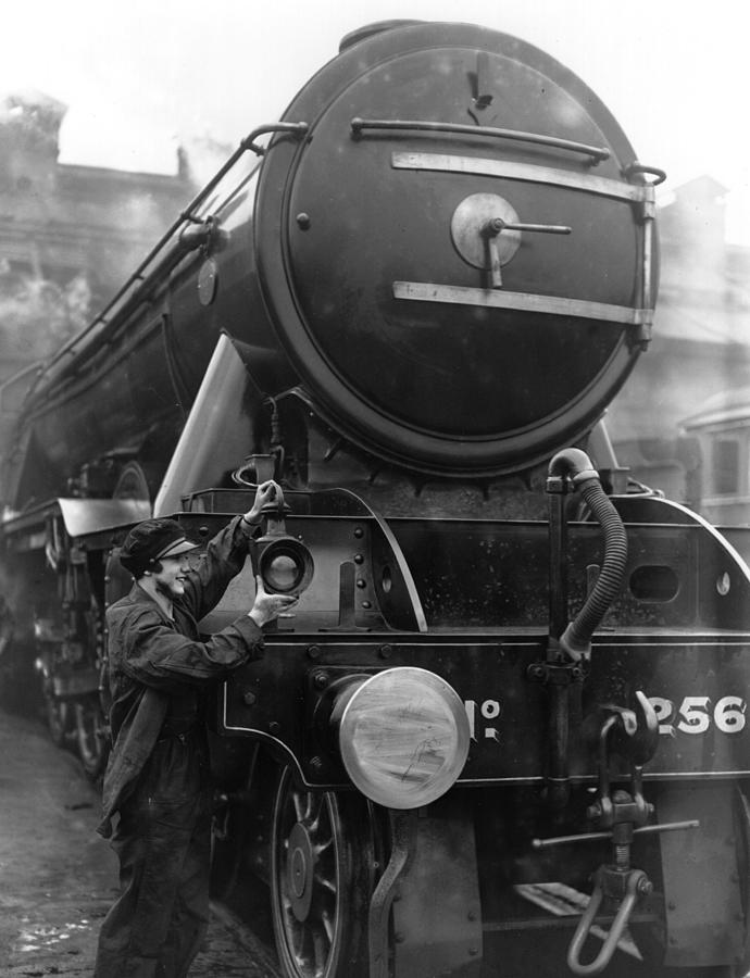 Lady Engine Driver Photograph by Fox Photos