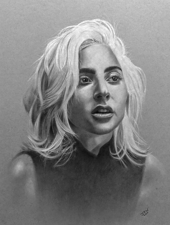 Lady Gaga Drawing By Jpw Artist