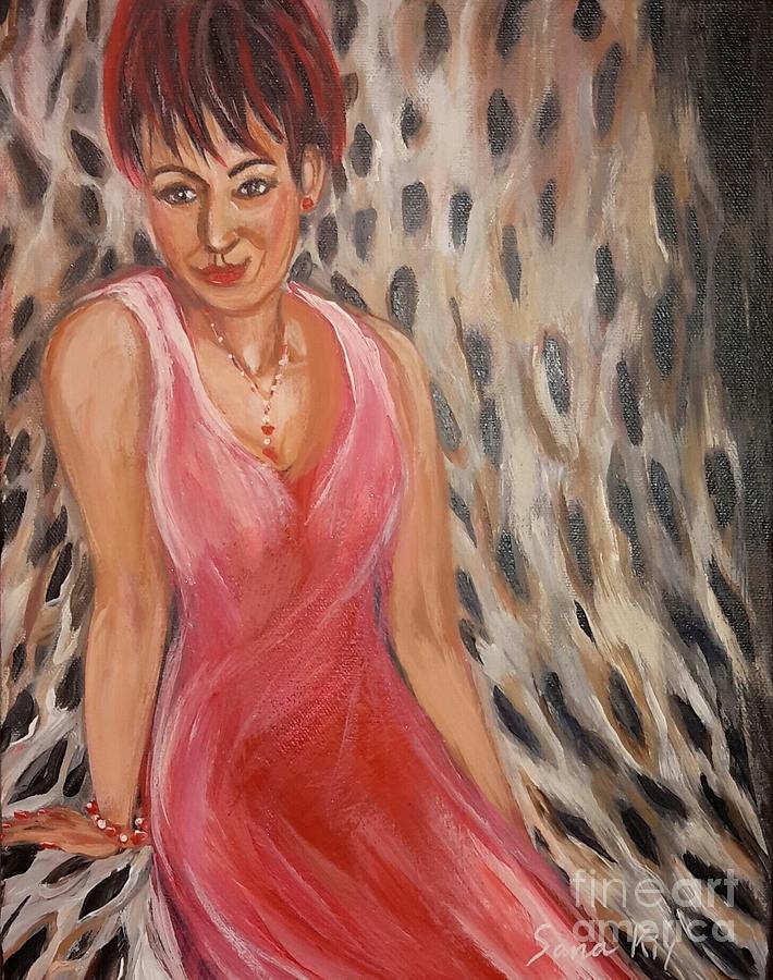 The Lady in Red  by Oksana Semenchenko