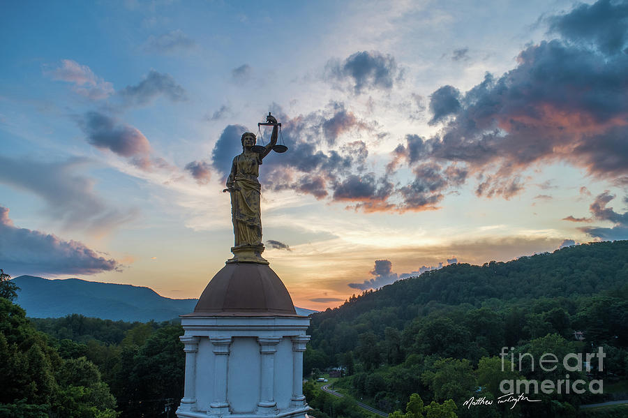 Lady Justice Photograph - Lady Justice 2 - Jackson County Nc by Matthew Turlington