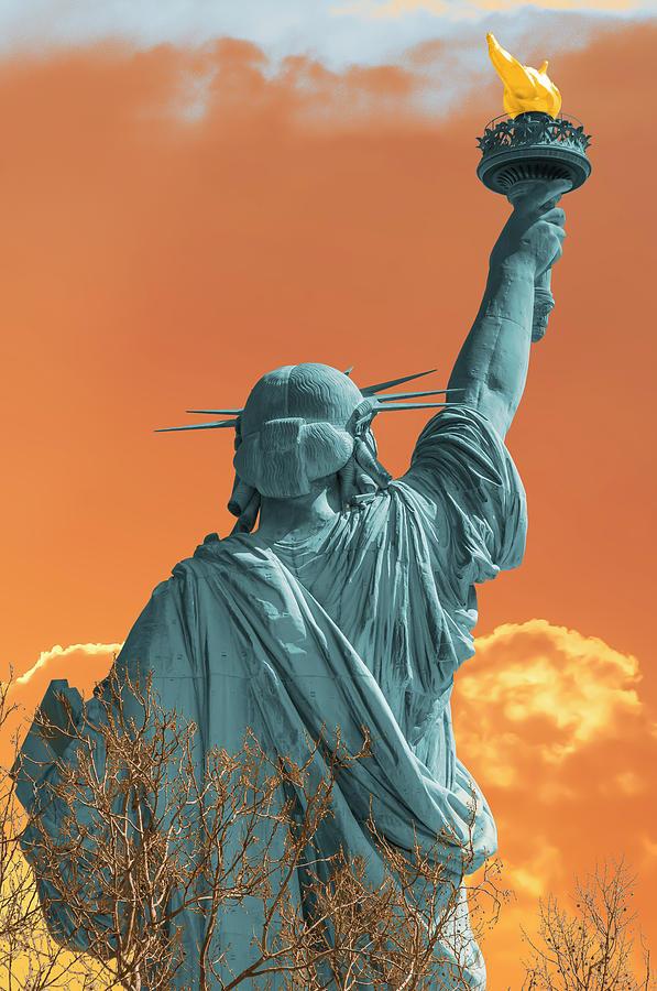 Lady Liberty, Dawn, a Vision by Dimitris Sivyllis