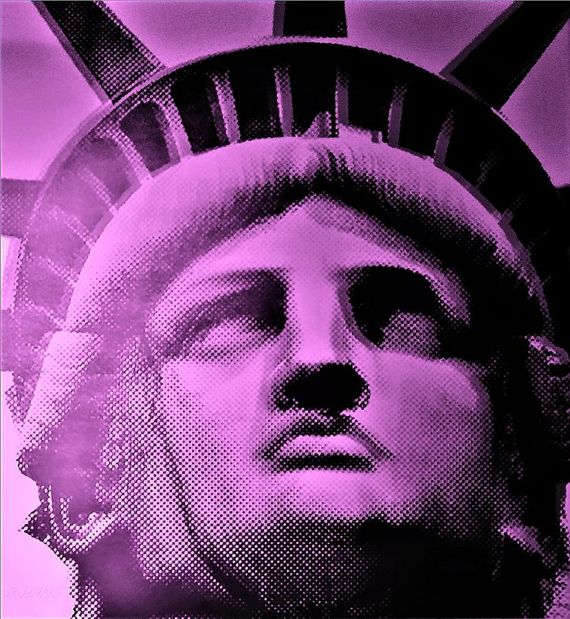 Statue Of Liberty Photograph - Lady Liberty In Pink by Rob Hans