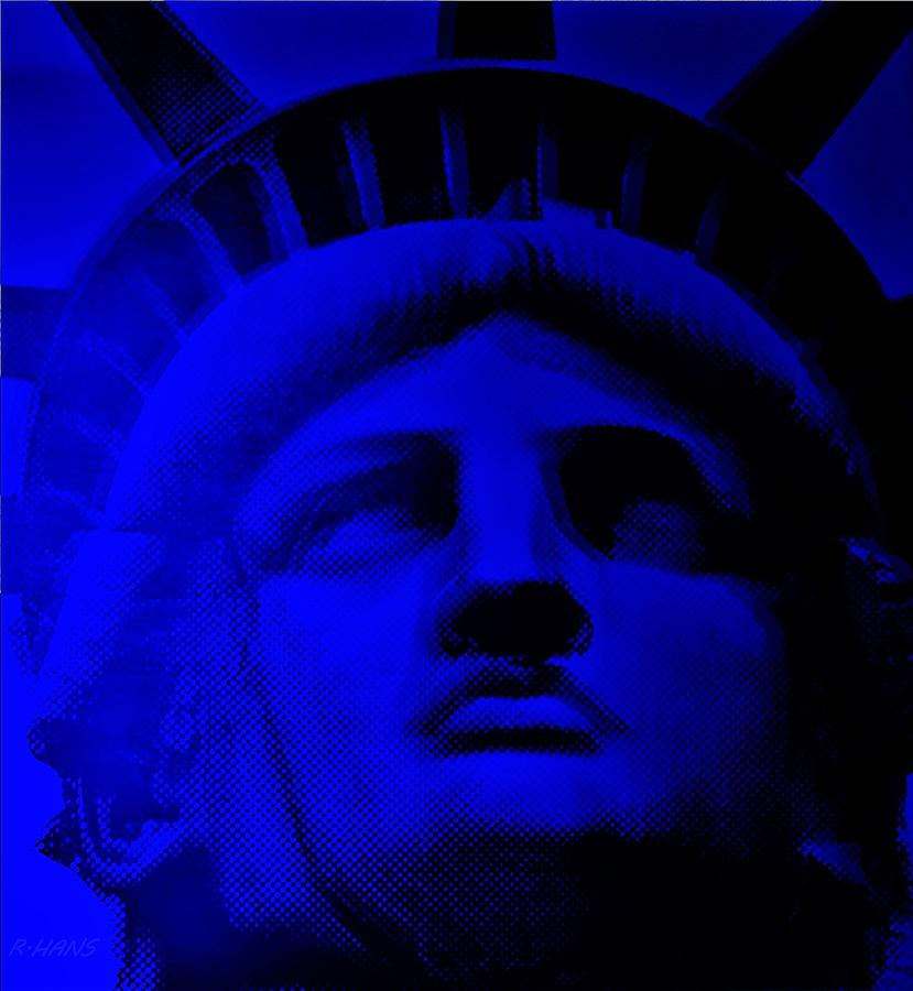 Statue Of Liberty Photograph - Lady Libery In Blue by Rob Hans
