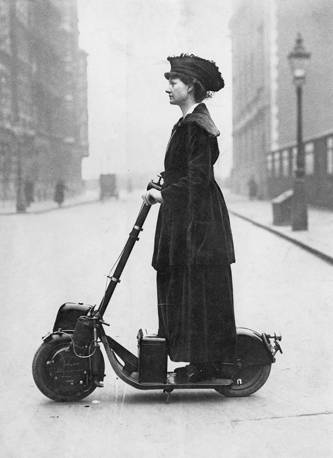 Lady Normans Scooter Photograph by Fpg