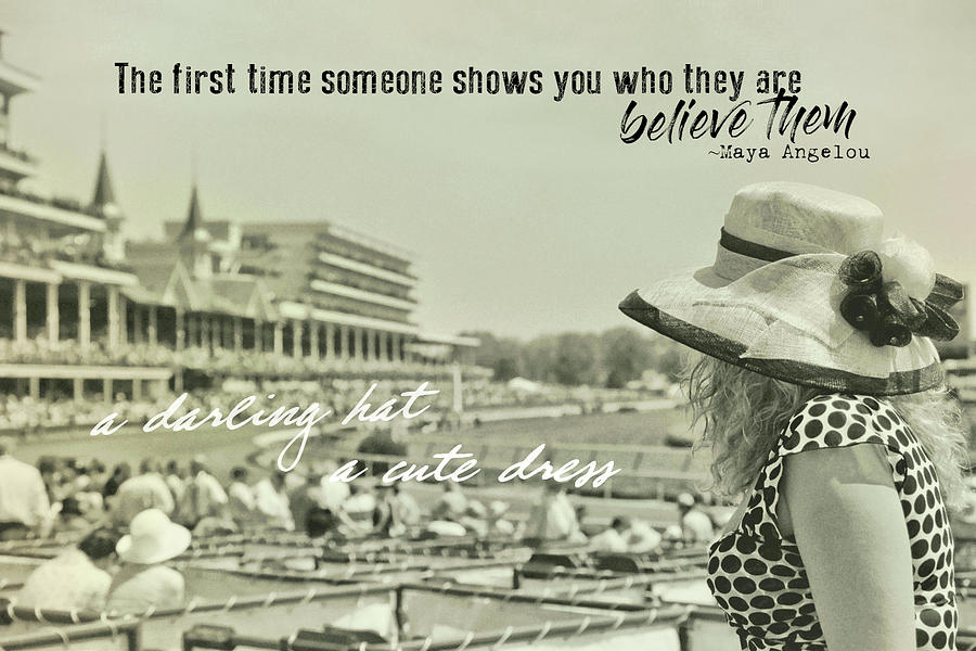 Hat Photograph - Lady Of The Derby Quote by JAMART Photography