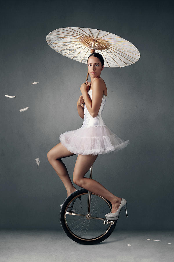 Lady On A Unicycle Photograph
