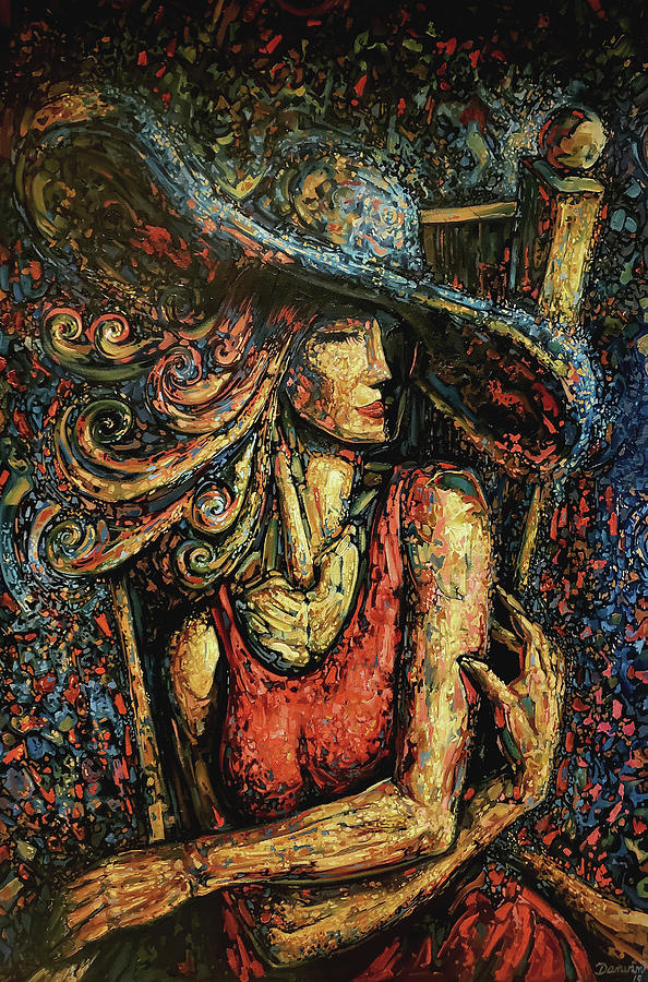 Surrealism Painting - Lady with Hat by Darwin Leon