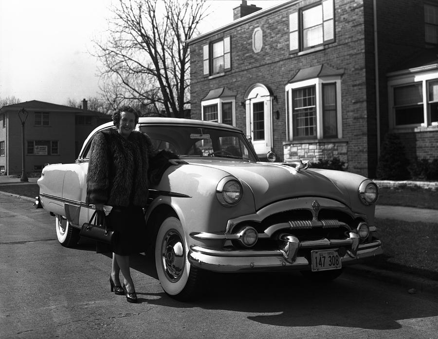 Lady With Packard Photograph by Robert Natkin