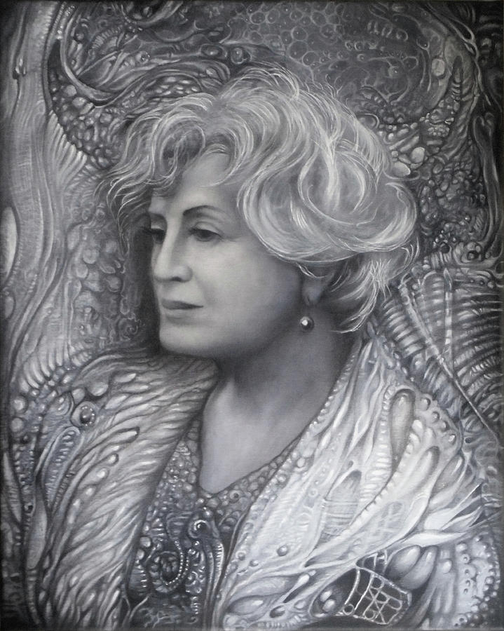 LADY Z - charcoal underdrawing by OTTO RAPP