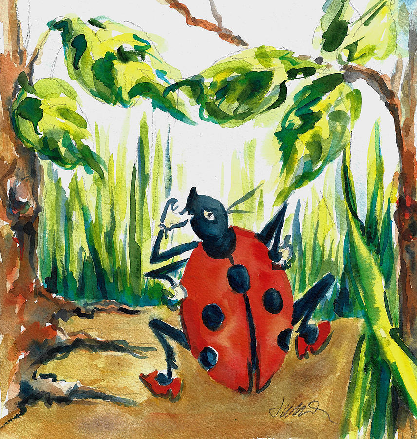 Ladybug Lou Hollers Yoo Hoo Jacki Kellum Illustration by Jacki Kellum