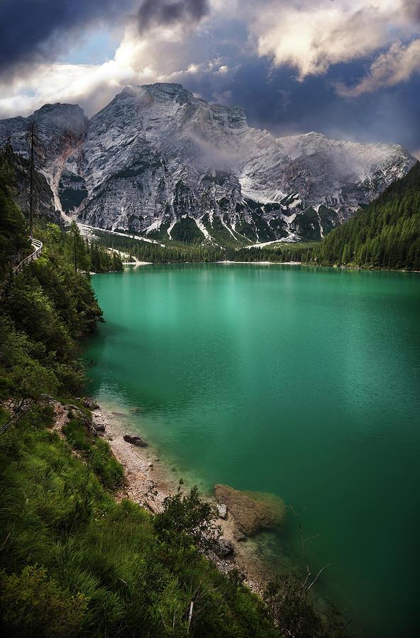 Lago Di Braies And Dolomites, Northern Photograph by Sankai