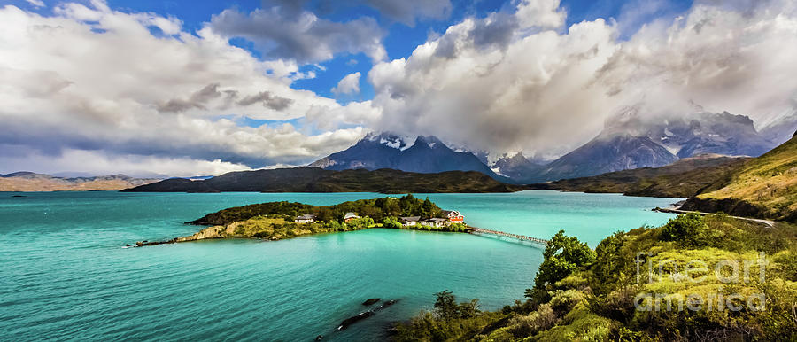 Lago Pehoe, Chile by Lyl Dil Creations