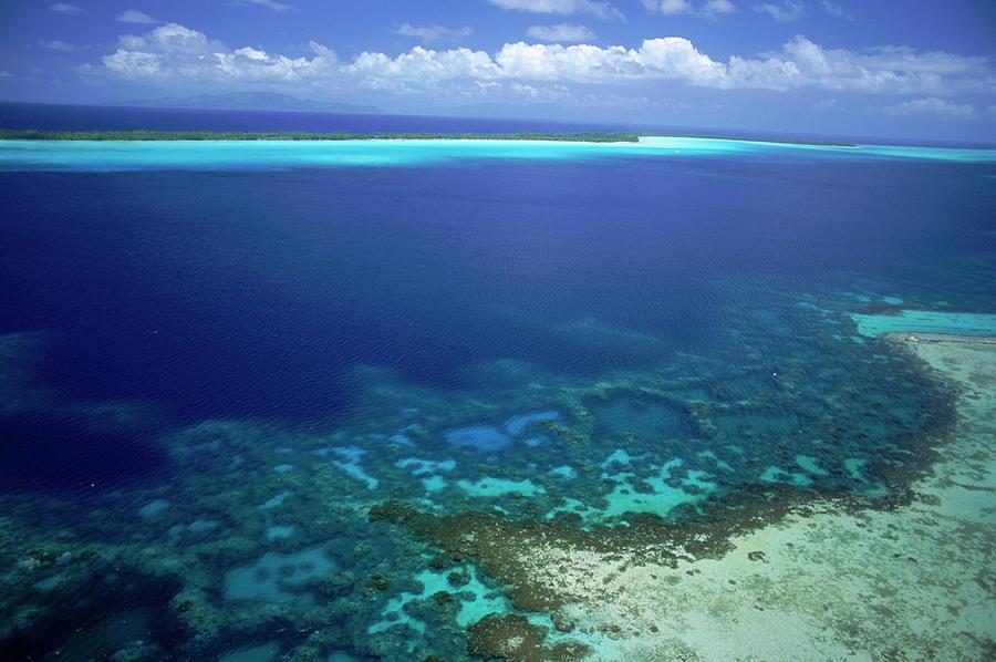 Lagoon At Bora Bora Photograph by Mitch Diamond