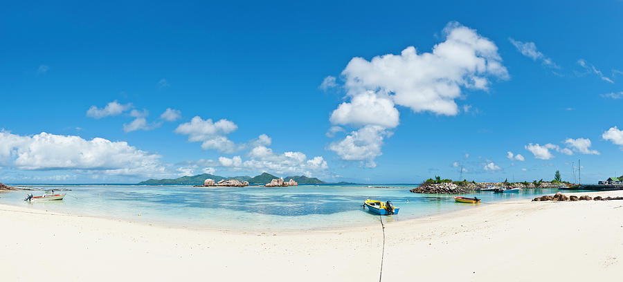 Lagoon Beach Harbor Idyllic Tropical Photograph by Fotovoyager