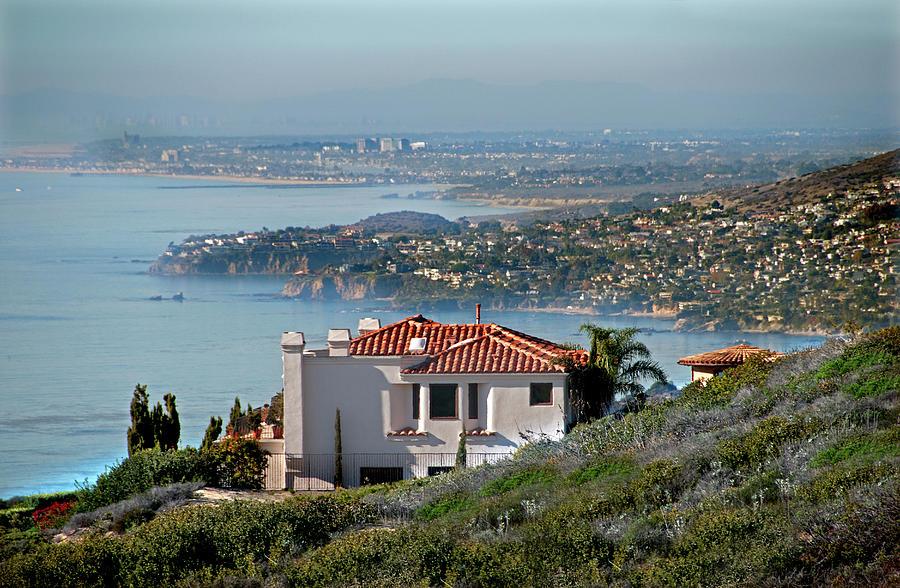 Laguna Beach Photograph - Laguna Beach Hilltop Homes by Mitch Diamond
