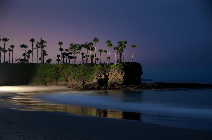 Laguna Beach Ocean Night Photograph by Mitch Diamond
