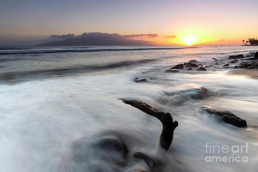 Lahaina Beach Sundown by Mike Dawson