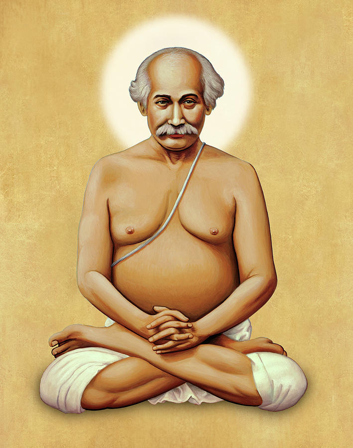 Lahiri Mahasaya on Gold by Sacred Visions