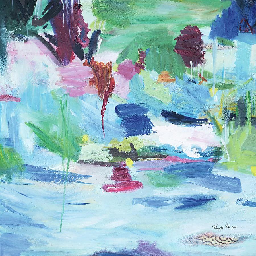 Abstract Painting - Lake Abstract by Farida Zaman