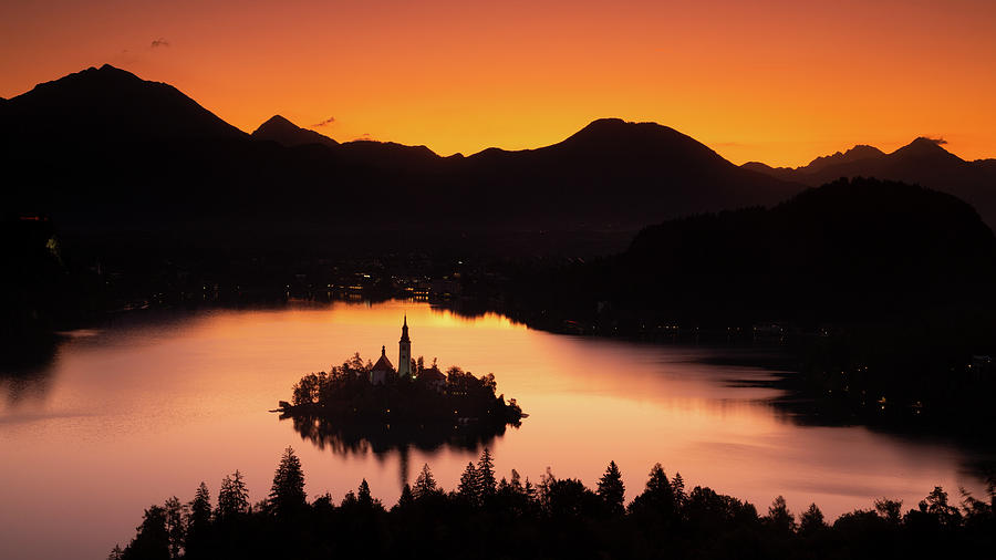 Lake Bled from Ojstrica at sunrise by Ian Middleton