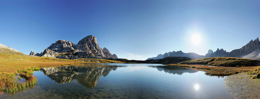 Scenic Photograph - Lake Boedenseen, Near Hut Drei Zinnen by Andreas Strauss / Look-foto