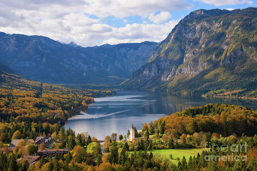 Lake Bohinj Landscape In Autumn In Slovenia Photograph By Ipics Photography