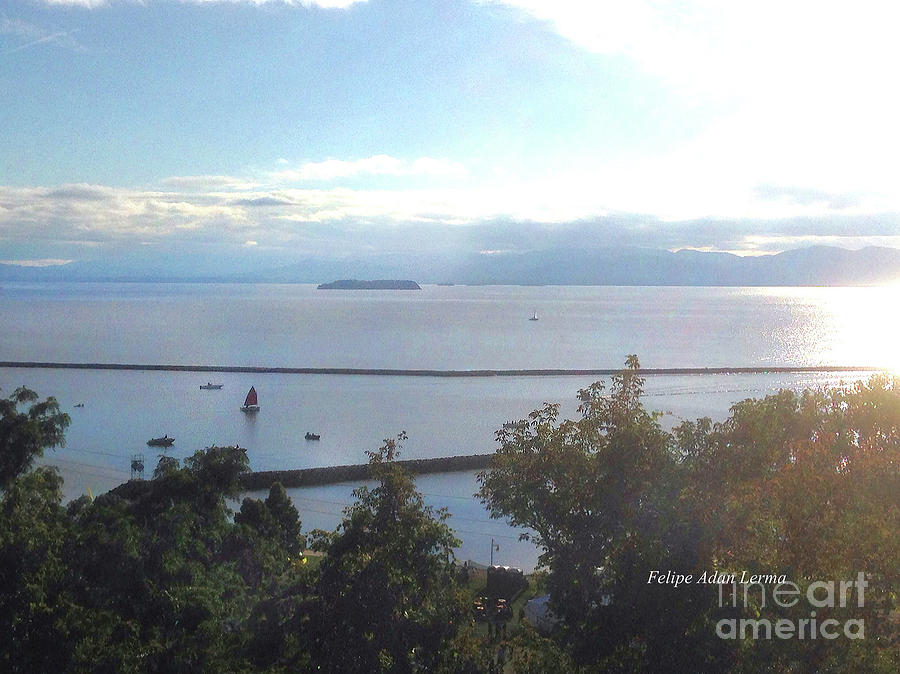 Lake Champlain Early Afternoon Sunshine Enhanced by Felipe Adan Lerma