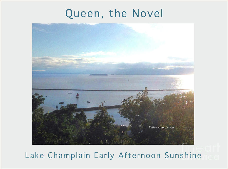 Lake Champlain Early Afternoon Sunshine Enhanced Poster Photograph