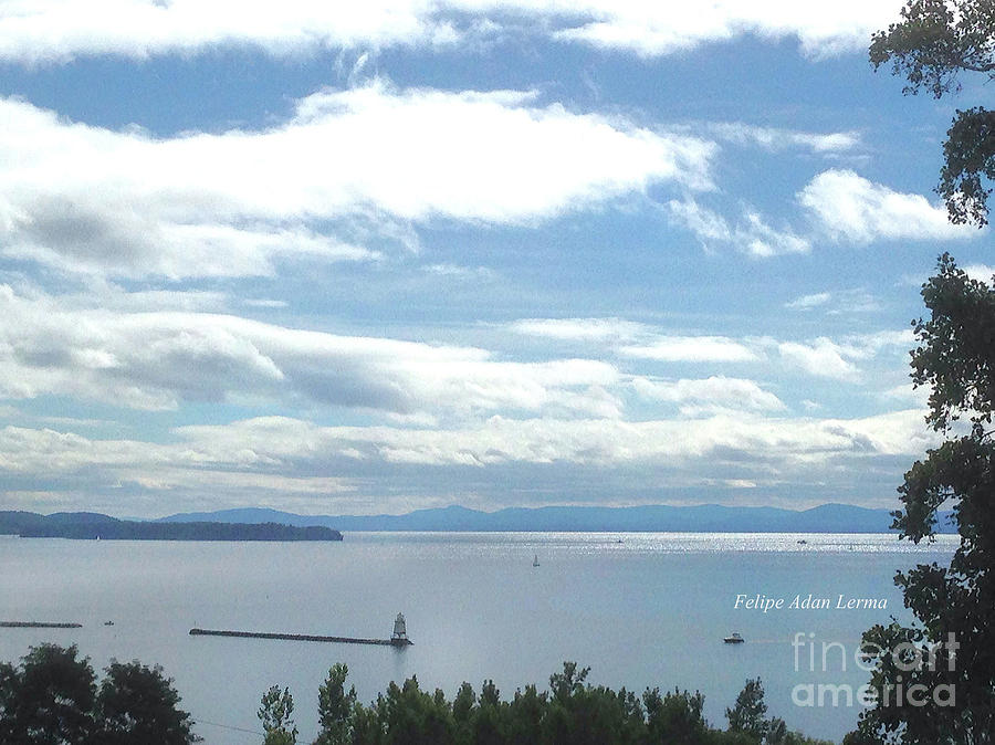 Lake Champlain Mid-day Sunshine Enhanced by Felipe Adan Lerma