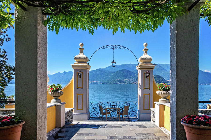 Lake Como from Hotel Terrace by Carolyn Derstine