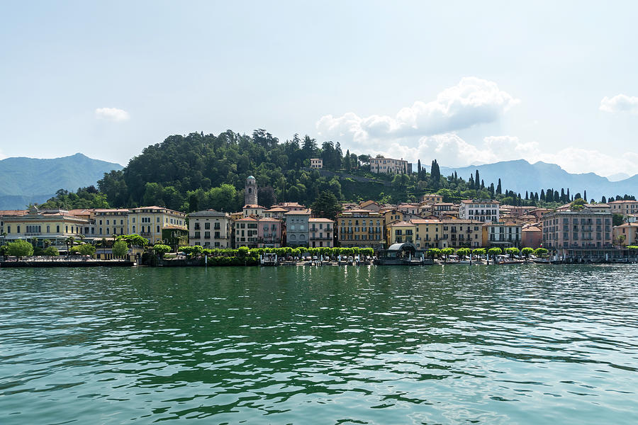 Lake Como Gems - Famous Bellagio on Lago di Como in Lombardy Italy  by Georgia Mizuleva