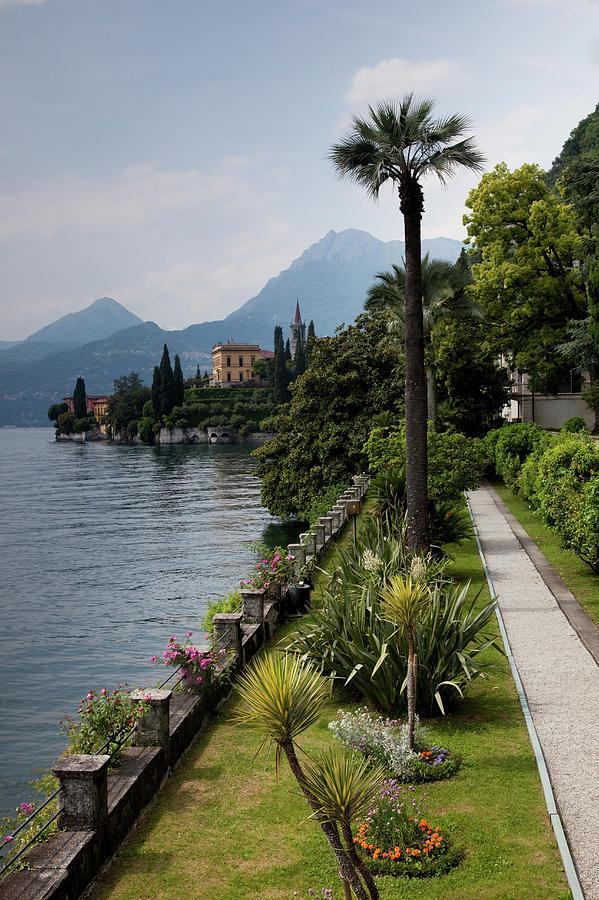 Lake Como, Varenna Photograph by Walter Bibikow
