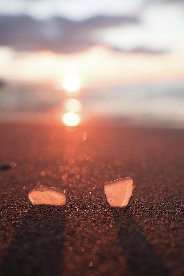 Beach Photograph - Lake Erie Beach Glass by Dave Niedbala