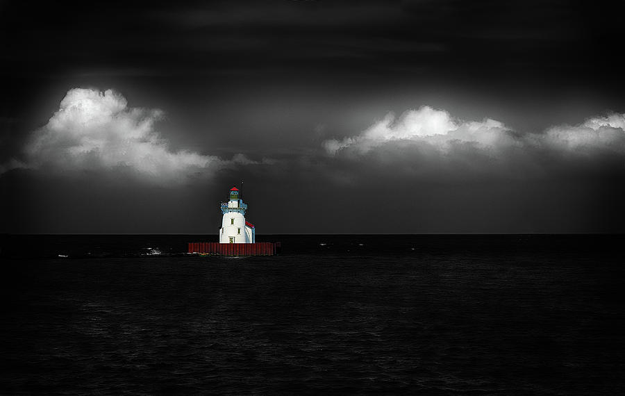 Lake Erie Lighthouse by Dick Pratt