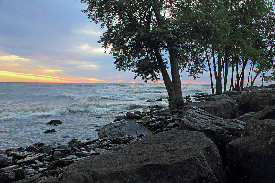 Lake Erie Shore Photograph - Lake Erie Shore by Angela Murdock