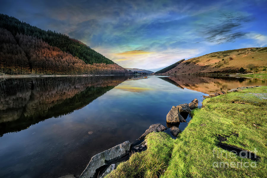 Autumn Photograph - Lake Geirionydd Sunset by Adrian Evans